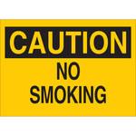 Brady B-302 Poliéster Rectángulo Letrero de no fumar Amarillo - 10 pulg. Ancho x 7 pulg. Altura - Laminado - 88345