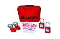 Brady Rojo Kit de candado - Profundidad 4/5 pulg. - Ancho 1 1/2 pulg. - Altura 1 3/4 pulg. - 754476-99290