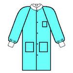 Kimberly-Clark Basic Plus Trim Azul Grande SMS Escudo de trabajo - 3 Bolsillos - 036000-10032