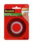 3M Scotch 4010 Cinta de montaje de espuma Transparente - 1 in Ancho x 450 in Longitud - 67747