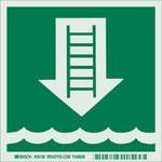 Brady 59106 Verde Poliéster Etiqueta marina - Ancho 6 pulg. - Altura 6 pulg. - B-324