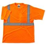 Ergodyne Glowear 8289 Naranja Poliéster Camisa de alta visibilidad - Camiseta - Grado ANSI clase 2 - Para tamaño del pecho 38 a 42 pulgadas - 720476-21514
