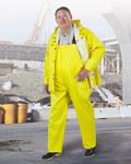 Dunlop Webtex 76032 Verde/Amarillo Grande Poliéster/PVC Chaqueta para condiciones frías - 2 Bolsillos - Capucha desmontable - Para tamaño del pecho 54 pulg. - 791079-12384