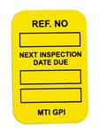 Brady Microetiqueta MIC-MTIGPI Y Amarillo Vinilo Microinserto de etiqueta - Altura 1 7/8 pulg. - 14303