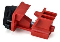 Brady Rojo Nailon Dispositivo de bloqueo de disyuntor 66321 - Ancho 1.25 pulg. - Altura 2.45 pulg. - 754476-66321