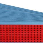 Brady Negro sobre rojo Paño Flechas de inspección de tabla - Ancho 0.125 pulg. - Altura 0.19 pulg. - B-500