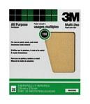 3M Óxido de aluminio Hoja de papel de lija - Accesorio Ninguno - 9 in ancho x 11 in longitud - 99404NA