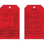 Brady 81992 Negro sobre rojo Cartulina Etiqueta de inspección general - Ancho 4 pulg. - Altura 7 pulg. - B-853
