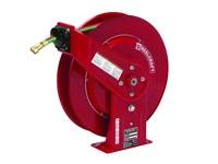 Reelcraft Industries Serie TW7000 50 ft Rojo Acero Carrete de manguera de grado T para soldadura con gas - longitud total 19 in - Ancho 7 in - Altura 20.25 in - 00030