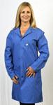 Tech Wear Grande Azul Solapa Capa de laboratorio ESD/antiestática -