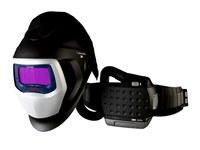 3M Adflo 9100-Air 35-1101-20SW Máscara completa Respirador para soldadura - Montado en cinturón - Montado en cinturón - ADF 2500 horas, PAPR: hasta 12 horas Ion de litio - 051141-56149