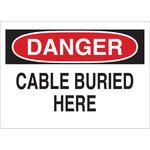 Brady B-401 Poliestireno Rectángulo Cartel de cable o línea enterrada Blanco - 10 pulg. Ancho x 7 pulg. Altura - 25530
