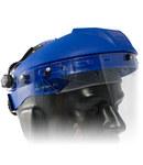 PIP 251-01-52 Azul Polipropileno Casco con careta - Ajuste Trinquete - 616314-08092