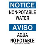 Brady B-401 Rectángulo Cartel de saneamiento de agua Blanco - Idioma Inglés/Español - 39080