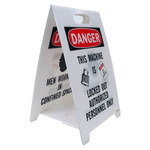 Brady B-836 Polipropileno Rectángulo Cartel vertical de piso Blanco - 12 pulg. Ancho x 20 pulg. Altura - 92289