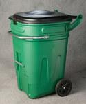 Eagle Verde HDPE Carrito de residuos - Ancho 30 in - Longitud 26 in - Altura 44 in - 048441-00882