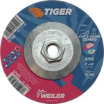 Weiler TIGER Óxido de aluminio Disco de corte y esmerilado - Diámetro 5 in - Grosor 1/8 in - 57102