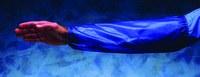 Ansell 59-002 Azul Vinilo Manga de brazo resistente a productos químicos - Longitud 18 pulg. - 076490-52085