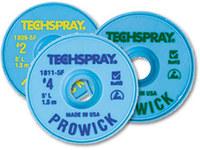 Techspray Pro Wick #2 Amarillo Trenza de desoldadura de núcleo de fundente de colofonia - Longitud 10 pies - Diámetro 0.055 pulg. -