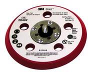 3M Stikit 20442 Duro Rojo PSA Almohadilla de disco - 5 in diámetro - 3/8 in Grosor