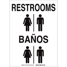 1012c445ecfd Brady 38996 Letrero de baño, Blanco, B-401, 10 in x 14 in | RSHughes.mx
